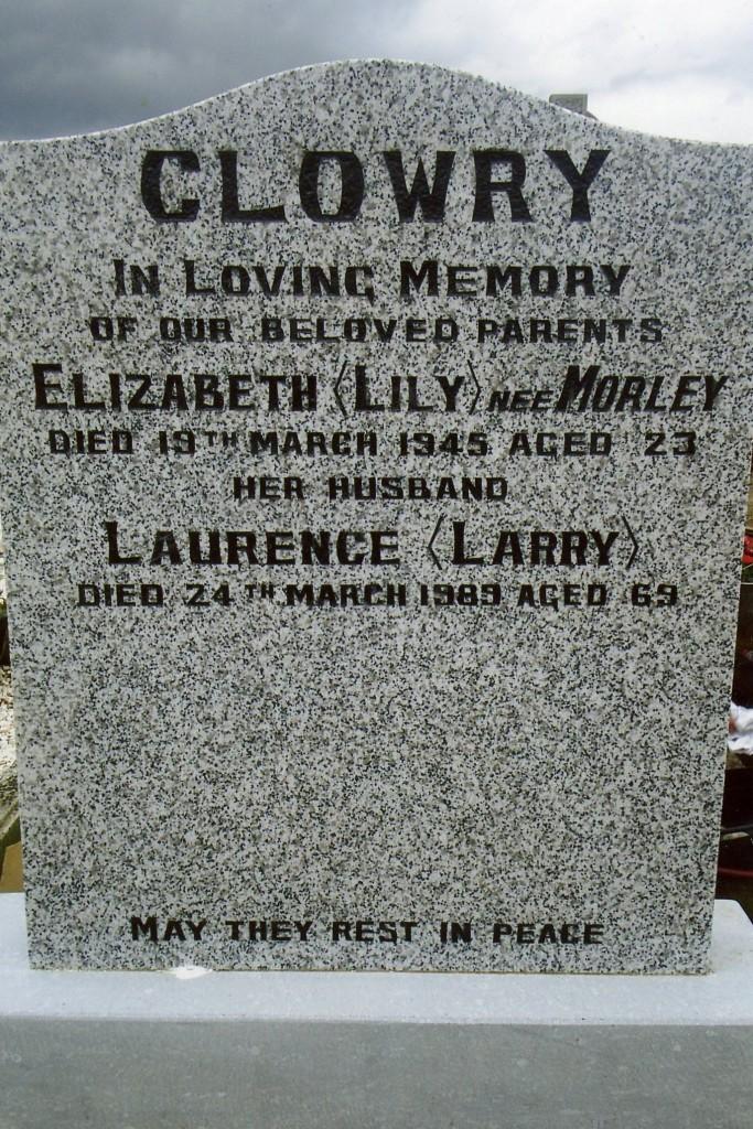Elizabeth & Laurence Clowry Grave - Mount Jerome