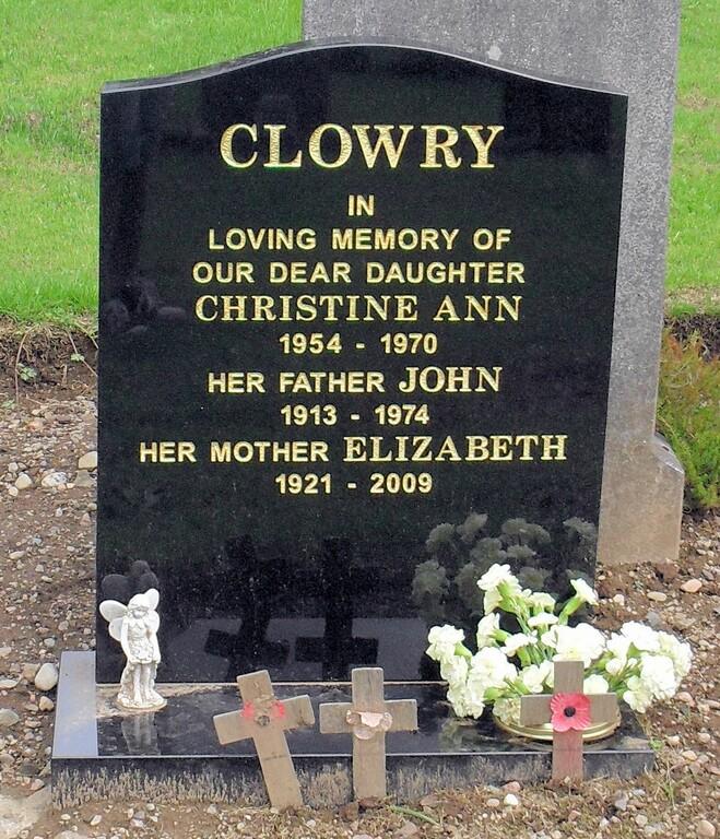 Christine Ann, John, Elizabeth Clowry