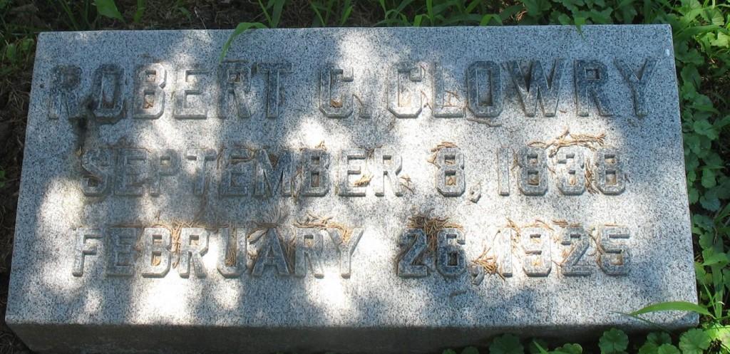 Robert Clowry Grave Engraving